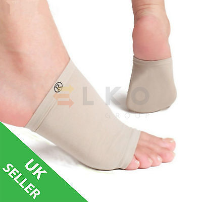 Plantar Fasciitis Gel Arch Support Sleeve Tendinitis Foot Pain Fallen Arch