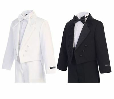 Tail Tuxedo - Boys Formal - Kids Dress Wear - Black, or White, Sizes 2T - 20,