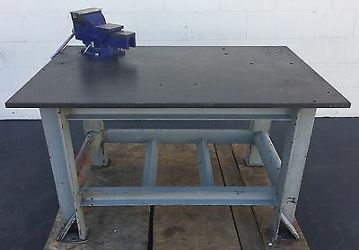 "48"" X 30"" Welding Table 3/4"" Thick W/ 6"" Opening Hilton Vise Industrial"