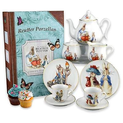 Beatrix Potter Child's Peter Rabbit Tea Set by Reutter Porcelain - EASTER