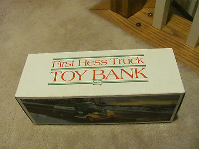 1985 First Hess Truck Toy Bank. NEW MINT IN BOX--BRAND NEW