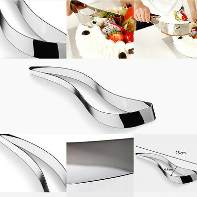 New Cake Knife Server Cutter Stainless Steel Metal Holder Wedding Party Tool