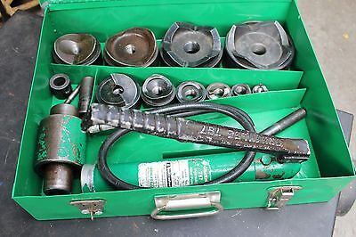"Greenlee 7310 Slug/Buster 1/2-4"" Conduit Size Hydraulic Knockout Punch Set"