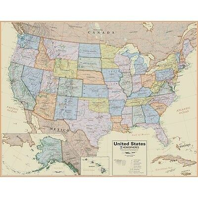 United States Boardroom Wall Map