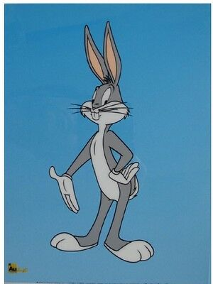 """2002 Limited Edition """"Bugs Bunny"""" Serigraph Cel With COA"""
