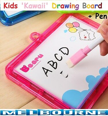 Kids Kawaii Learning Drawing Board Sketch Pad Doodle Writing Art Child Girl Gift