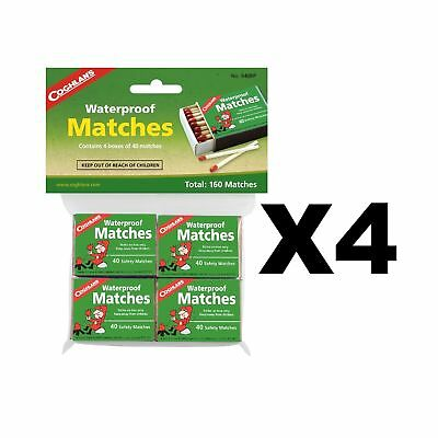 Coghlan's Waterproof Matches Wooden Fire Starters (4-Pack of 4 - 40 Count Boxes)