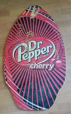 Vintage  Dr Pepper Cherry Wooden Sign 35X19