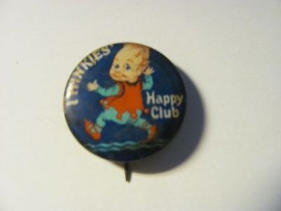 Old Vintage Pin Back Twinkies Happy Club Hamilton Brown Shoes