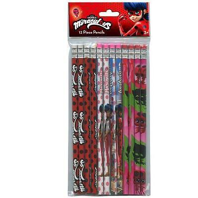 Miraculous Ladybug 12pk Pencils School stationary Supplies party favors gift