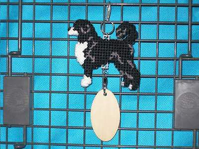 PORTUGUESE WATER DOG Retriever Clip crate tag or hang anywhere pet sign art, cut