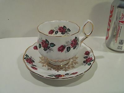 Nice Vintage Antique Beautiful Roses Tea Cup And Saucer,royal Dover,made England