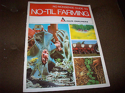 1960's Allis-Chalmers No-Til Farming 32-Page Brochure