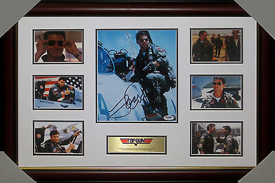 Tom Cruise - Top Gun - Signed & Framed Collage  Psa Dna Authenticated # Z88733