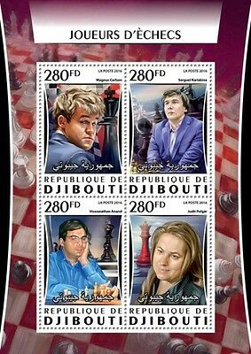 Z08 IMPERFORATED DJB16315a DJIBOUTI 2016 Chess MNH