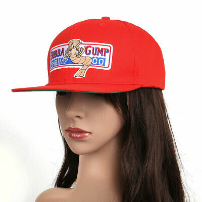 Bubba Gump Shrimp Hat Forrest Gump Costume Embroidered Snapback Cap Red