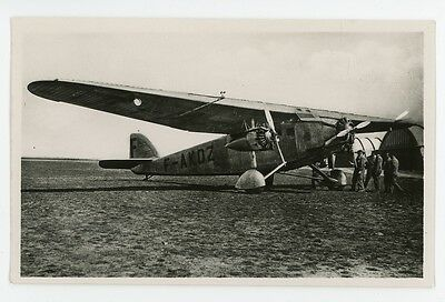 FRENCH aircraft, F-AKDZ, S.P.C.A. Real Photo PC