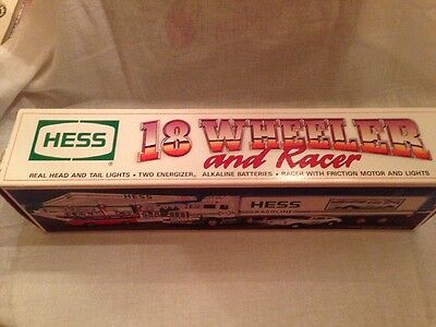 Hess Truck 1992 18 Wheeler And Racer Mint In Box  New In Box