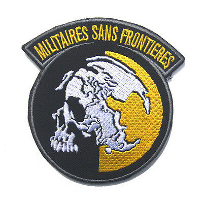 Metal Gear Solid Mgs Peace Walker Militaires Sans Frontieres Embroidered Patch