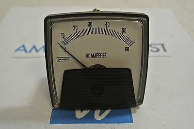 Crompton Instruments AC Amp Meter 0-60A 01275AALSNWC7B3  3 Stud 0/60A AC USED