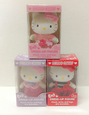 LOT of 3 New in Box Sanrio Hello Kitty Dress Up Collectible Figures kawaii