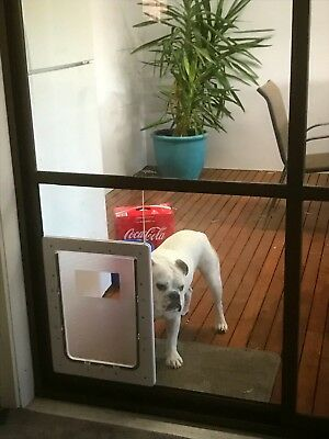 NEW LARGE Dog Door Suits Glass Windows & Doors & Screen Fitting. Super Tough