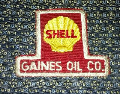 VINTAGE SHELL GAINES OIL CO. (GAS STATION) Sew-On Patch