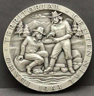 Medallic Art Co. Idaho Centennial Medal .999 Silver 1863-1963 1.5 ounce