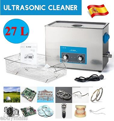 Ultrasonic Cleaner 27L Limpieza por Ultrasonidos Ajustable para metal rejol 500W