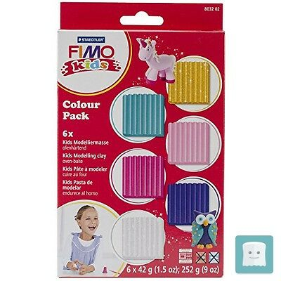 Staedtler 8032 02 Fimo Kids Confezione Di Materiali, Colour Pack Girlie, 6 X ...