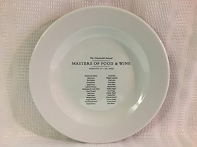 2005-19th Annual Masters Of Food & Wine Collector Dinner Plate