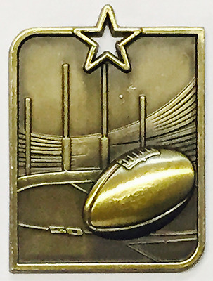 Aussie Rules AFL Football Medal Award 50x40mm Trophy Engraved FREE & Neck Ribbon