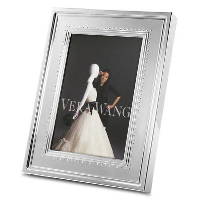 NEW Wedgwood Vera Wang Grosgrain Silver Plated Small Frame
