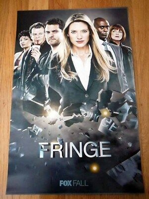 FRINGE sdcc 2011 Exclusive FOX Limited Original Poster JOSHUA JACKSON ANNA TORV