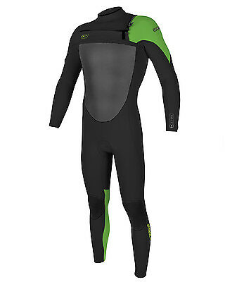 O'Neill Superfreak 4/3mm  Mens Wetsuit (2017) in Black & Green