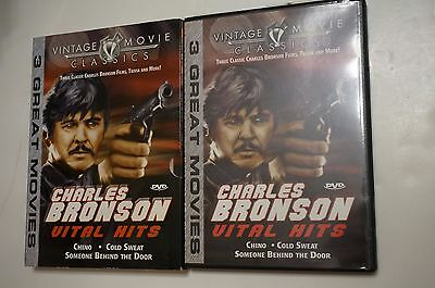 Charles Bronson Vital Hits DVD Chino,Cold Sweat,Someone Behind The Door LIKE NEW