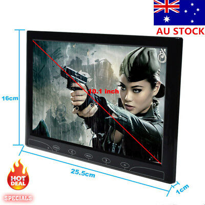 "10"" HD TFT LCD Display Screen CCTV HDMI/VGA/DC Surveillance PC Monitor AU STOCK"