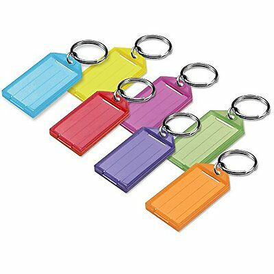 Key Hooks Lucky Line Key Tag With Split Ring Assorted Colors, 25 Pack (6050025)