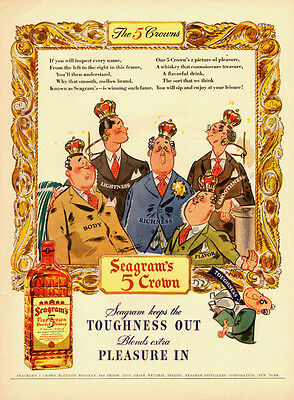 1942 vintage Ad, Seagram's 5 Crown Blended Whiskey  012814