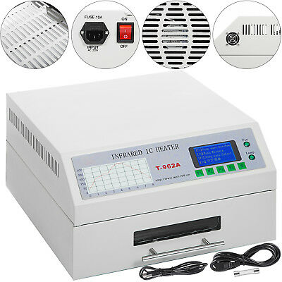 T962A Infrared Reflow Oven SMD BGA 300x320mm Digital LCD Display Soldering UK