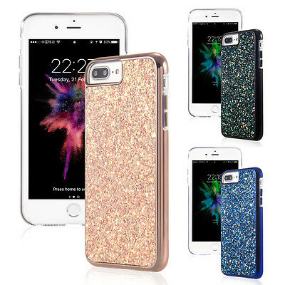 iPhone 7S 8Plus Case Bling Glitter Sparkle Hard Soft TPU Silicone Cover For 7/6