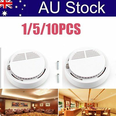1/5/10PCS Photoelectric Smoke Alarm Fire Detector Sensor System Security YU