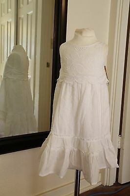 NWT Toddler Girls Cherokee Sleeveless White Lace Maxi Dress size 18 Months