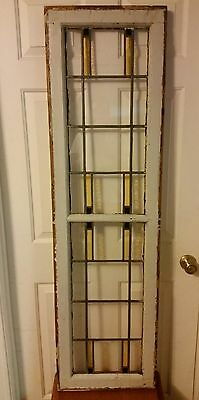 Antique~ French Art Deco Stained Glass Window~ Architectural Salvage~Beautiful