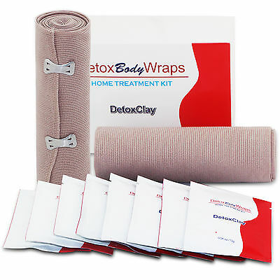 Detox Body Wrap Cellulite Reduce Ultimate 8 Applicators Tighten 2 Bandages New