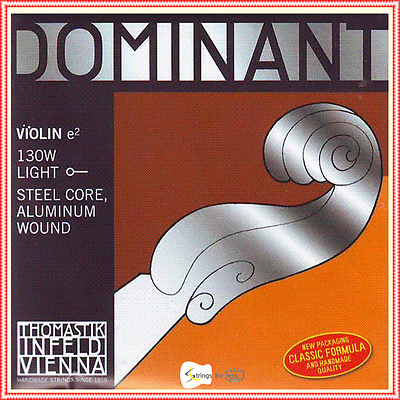 Thomastik-Infeld 130 Dominant Violin String Single E String 4/4 Aluminium Wound