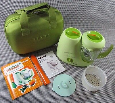 BEABA BabyCook Baby Steam Cooker The Original Baby Food Maker Blender Complete