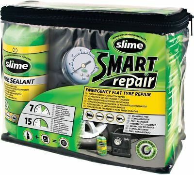 Slime Smart Spare Emergency Car Tyre Puncture Repair Kit Includes Compressor New