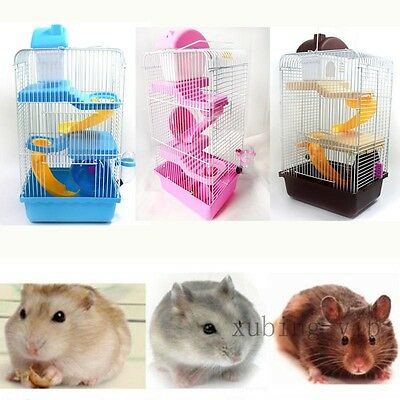 Large Gorgeous Hamster Mouse Cage 3Tier Storey Fantasia Hamster Cage Castle 915g