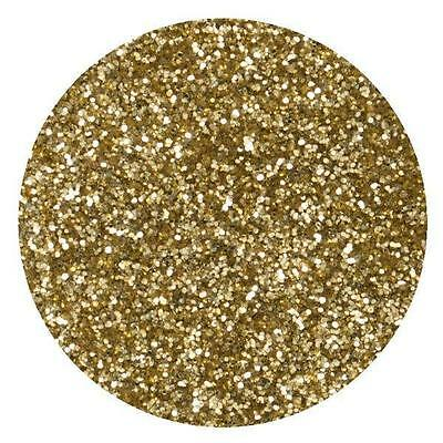 Gold Crystals 'Edible' Glitter Sparkle Cake Decorating Rolkem Non-Toxic